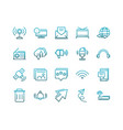 communications talk information broadcast icons vector image vector image