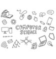 computer science engineering education doodle art vector image vector image