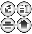 construction set with industrial icons vector image vector image