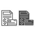 contract and credit card line and glyph icon vector image