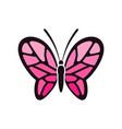creative feminine pink butterflies vector images vector image