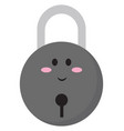 cute little lock on white background vector image