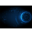 dark blue futuristic game circuit technology vector image vector image