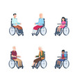 disabled persons young people rehabilitation in a vector image