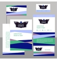 Editable template logo and corporate identity with vector image vector image