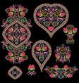 ethnic colorful cliche- set templates vector image vector image