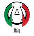 flag of italy of the world in the form of a sign vector image vector image