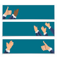 flat design clapping hand applause banners vector image vector image