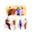 flat online party concept vector image