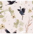floral autumn garden seamless pattern with hand vector image