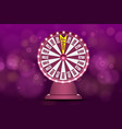 fortune wheel 3d object on abstract defocused vector image