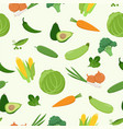 fresh green various vegetables seamless pattern in vector image vector image