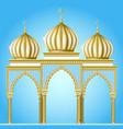 gazebo in oriental style vector image vector image
