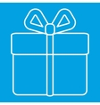 Gift thin line icon vector image