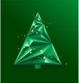 Green abstract Christmas Tree vector image