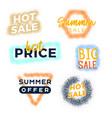 grunge summer sale premium quality labels bundle vector image