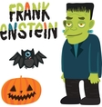 Halloween character Frankenstein with vector image vector image