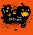 Halloween grunge card or background vector image