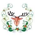 holiday deer vector image vector image