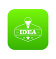 innovation idea icon green vector image