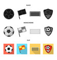 isolated object of soccer and gear icon vector image