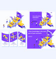 isometric concept for e-learning education vector image vector image