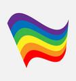 lgbt rainbow flag waving pride sign banner vector image