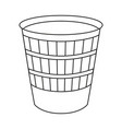 line art black and white trash can vector image vector image