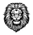 lion head angry black white vector image vector image