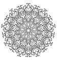 mandala decorative element round decoration vector image vector image