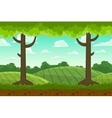 Parallax cartoon country horizontal landscape vector image vector image