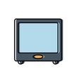 retro television icon vector image vector image