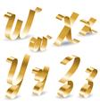 Ribbon alphabet W X Y Z vector image vector image