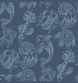 Seamless pattern in marine themes with wild sea