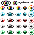 Set of eyes icons and symbols vector image vector image