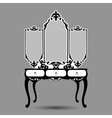 silhouette of console mirror vector image vector image