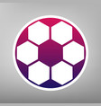 soccer ball sign purple gradient icon on vector image