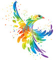 splash fantasy bird vector image vector image