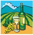 table wine vector image vector image