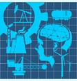 technical blueprint background vector image