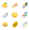 trafficking icons set isometric style vector image vector image