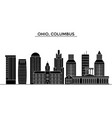 usa ohio columbus architecture city vector image vector image