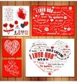 Valentine Letterpress Card vector image