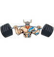 viking gym mascot grit vector image vector image