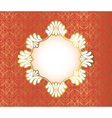 Vintage frame on damask background vector image vector image
