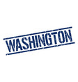 washington blue square stamp vector image vector image