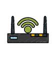 wifi internet symbol vector image vector image
