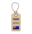 hang tag made in australia with flag icon isolated vector image