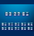 mechanical time timer set of digits vector image