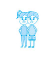 isolated boy and girl design vector image